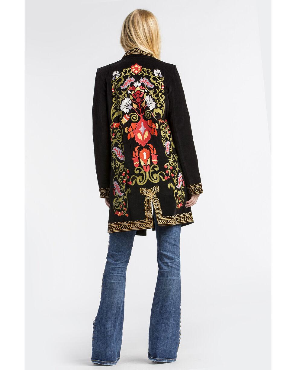 MM Vintage Women's Black Electric Lady Embroidered Blazer , Black, hi-res