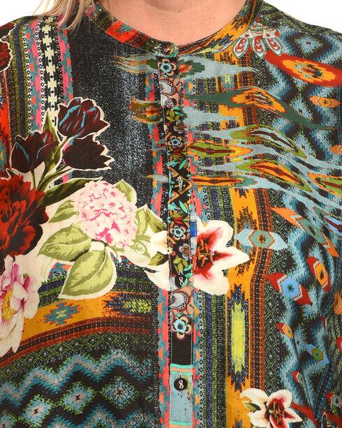 Johnny Was Women's Canvas Printed Silk Twill Tunic , Multi, hi-res