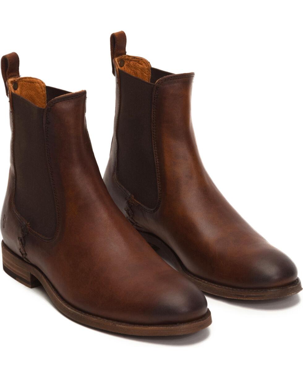 Frye Women's Cognac Melissa Chelsea Boots - Round Toe, Cognac, hi-res