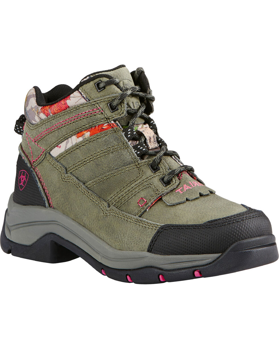 Ariat Women's Hot Leaf Terrain Pro Boots , Olive, hi-res