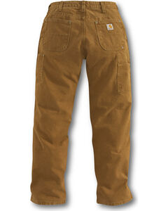 Carhartt Double Front Work Dungaree Pants, Brown, hi-res