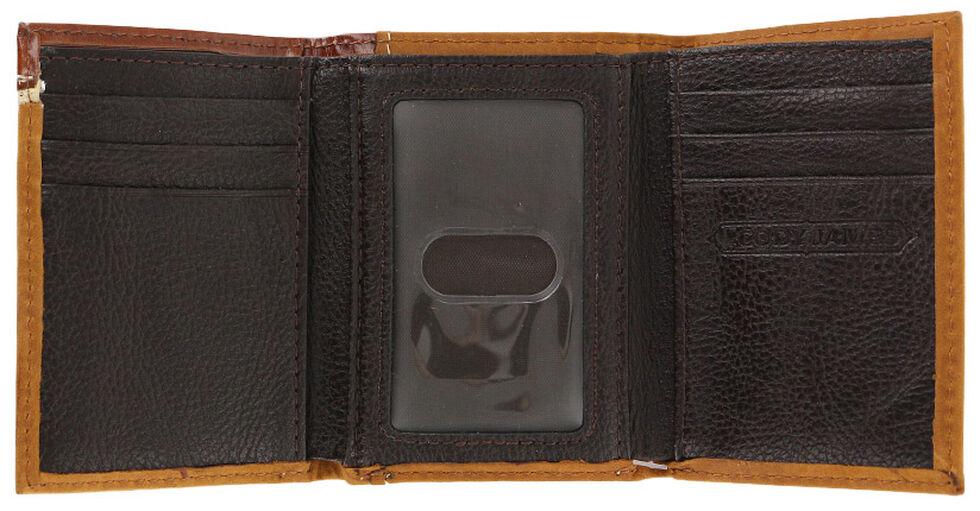 Cody James Men's Praying Cowboy Tri-Fold Leather Wallet, Brown, hi-res