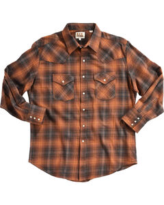 Ely Cattleman Men's Copper Brawny Flannel Shirt, Rust Copper, hi-res
