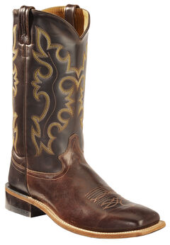 Old West Men's Brown Western Cowboy Boots - Square Toe, , hi-res