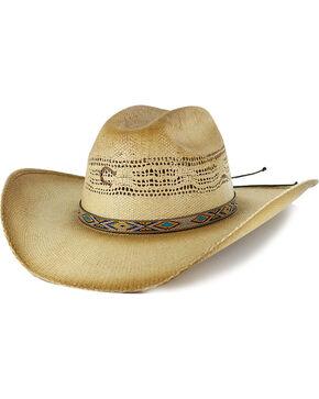 Charlie 1 Horse Women's Western Straw Hat, Lt Brown, hi-res