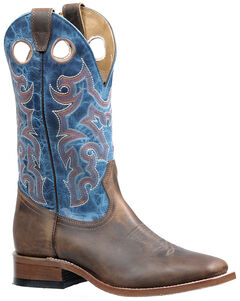 Boulet Hillbilly Golden Lava Electric Blue Boots - Square Toe, , hi-res
