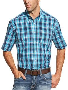 Ariat Men's Peacoat Navy Brad Shirt , , hi-res