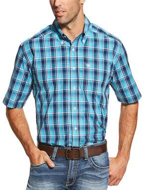 Ariat Men's Peacoat Navy Brad Shirt , Navy, hi-res