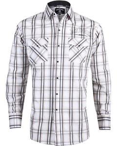 Jack Daniels by Ely Cattleman Men's Plaid Western Shirt , , hi-res