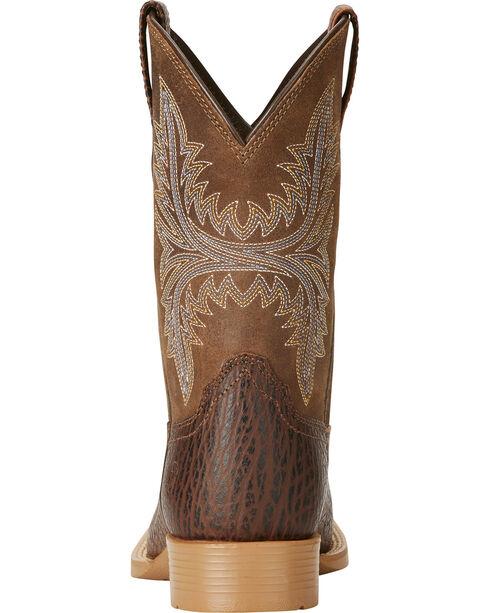 Ariat Boys' Cowhand Cowboy Boots - Square Toe, Tan, hi-res