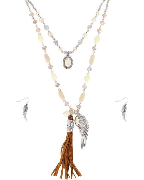 Shyanne Women's Angel Wing Jewelry Set, Silver, hi-res