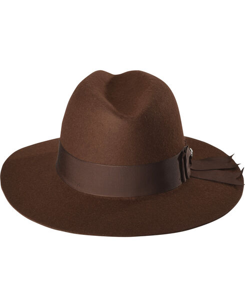Stetson Women's Brown Cat's Meow Wool Hat , Brown, hi-res