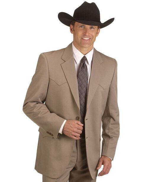 Circle S Men's Lubbock Suit Coat - Short, Reg, Tall, Taupe, hi-res