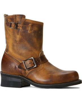 Frye Women's Engineer 8R Boots - Round Toe, Dark Brown, hi-res