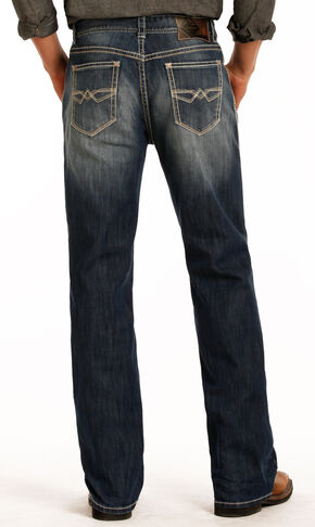 Rock & Roll Cowboy Men's Blue Double Barrel Reflex Jeans - Straight Leg , Blue, hi-res