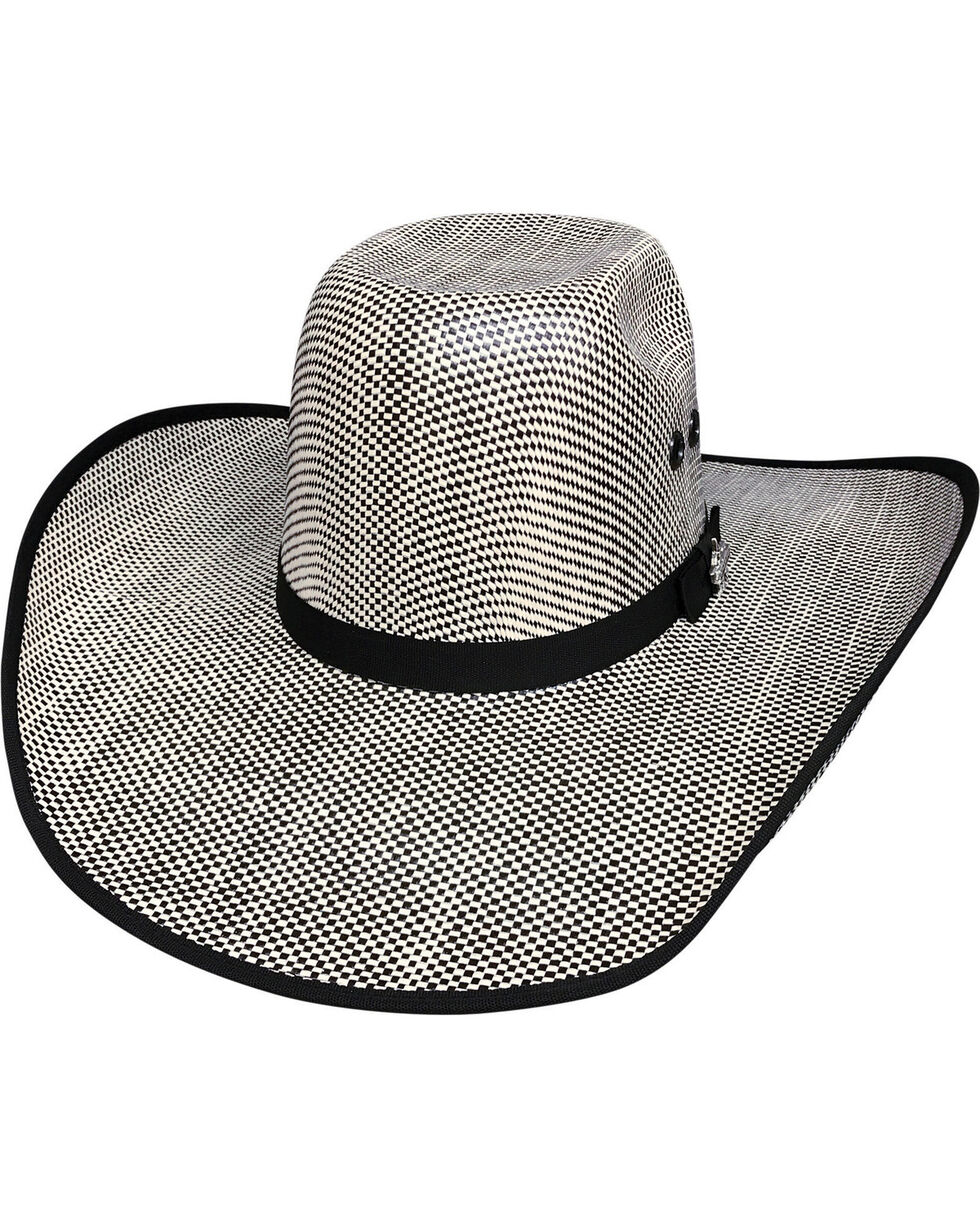 Bullhide Men's Shades of Black 50X Straw Cowboy Hat, Black, hi-res