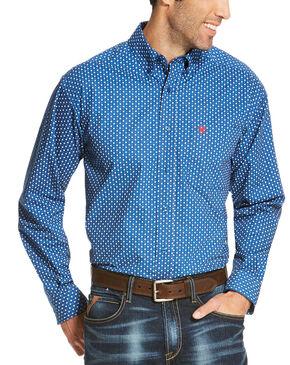 Ariat Men's Blue Rico Print Long Sleeve Shirt - Big and Tall , Blue, hi-res