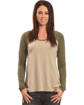 Z Supply Women's Grey Big Hit Baseball Tee, Lt Grey, hi-res