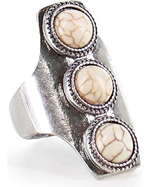 Shyanne Women's Trio Concho Ring, Silver, hi-res
