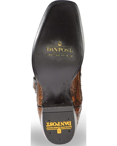 Dan Post Men's Cognac Back Cut Python Cowboy Boots - Square Toe, Cognac, hi-res