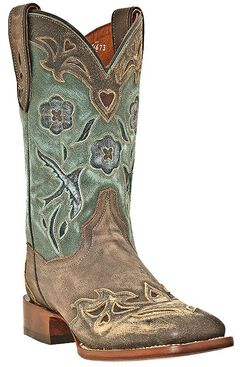 Dan Post Blue Bird Cowgirl Boots - Square Toe, , hi-res