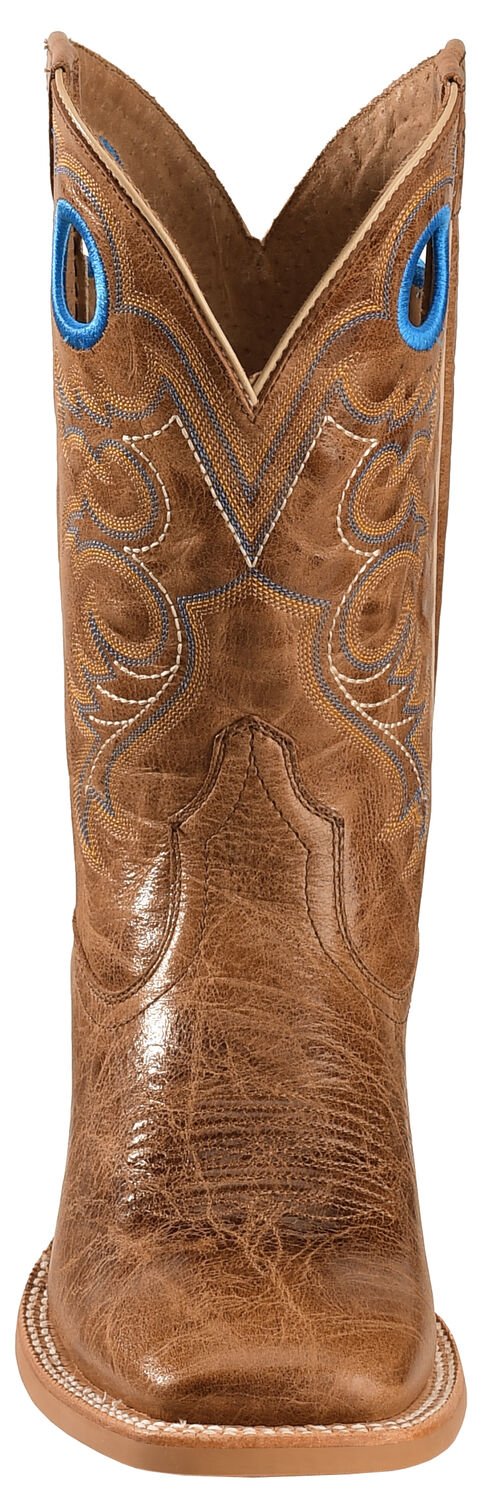 Ariat Distressed Brown Crossfire Cowboy Boots - Square Toe , Brown, hi-res