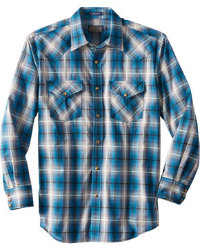 Pendleton Men's Long Sleeve Frontier Plaid Shirt, Teal, hi-res