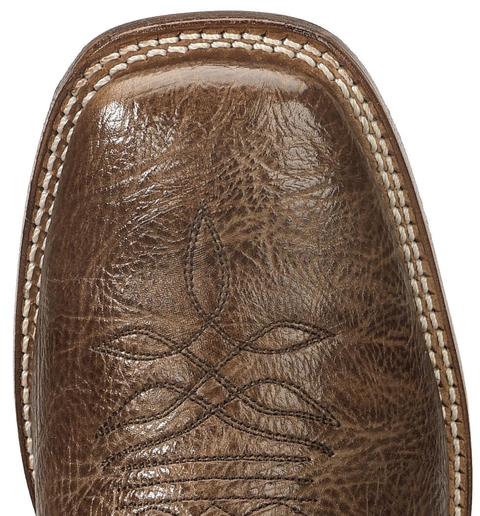 Boulet Stockman Cowboy Boots - Wide Square Toe, Dark Brown, hi-res
