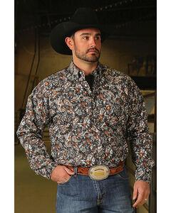 Cinch Men's Classic Fit Paisley Print Long Sleeve Button Down Shirt, Multi, hi-res