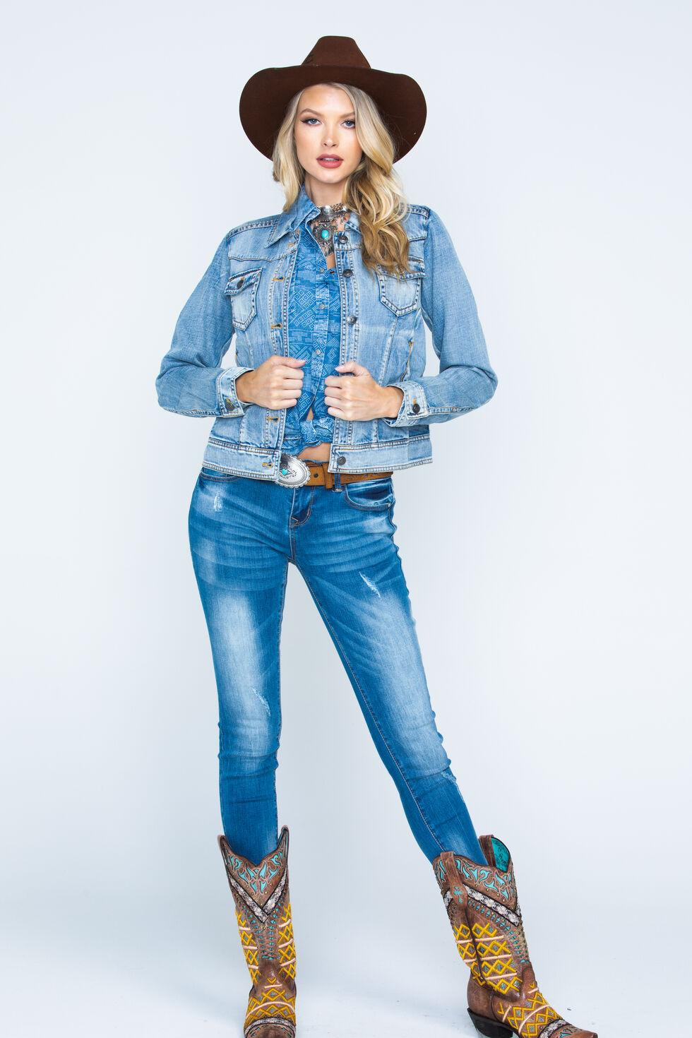 Ryan Michael Women's Indigo Jean Jacket, Indigo, hi-res