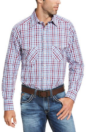 Ariat Men's Red Austin Shirt - Big and Tall, Red, hi-res