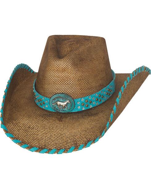 Bullhide Anything Goes Straw Cowboy Hat, Pecan, hi-res