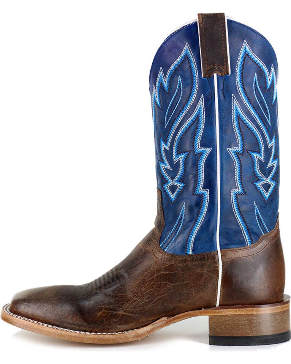 Cody James Men's Vaquero Blue Fire Western Boots - Square Toe, Brown, hi-res
