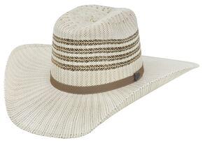 Justin Bent Rail Barrel Straw Cowboy Hat , Ivory, hi-res