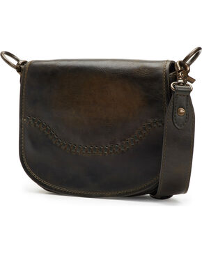 Frye Women's Mini Melissa Whipstitch Leather Saddle Bag , Slate, hi-res