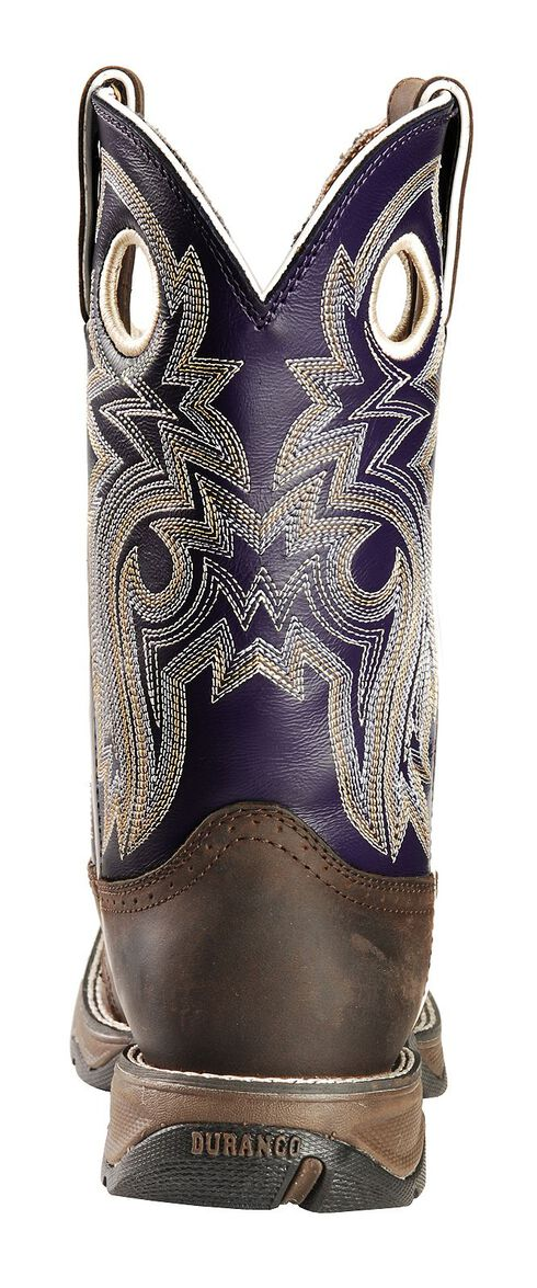 Durango Twilight 'N Lace Rebel Cowgirl Boots - Square Toe, Distressed, hi-res