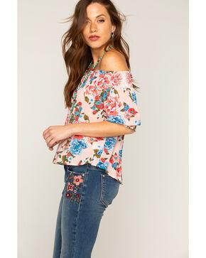 Shyanne Floral Off-the-Shoulder Top, Pink, hi-res