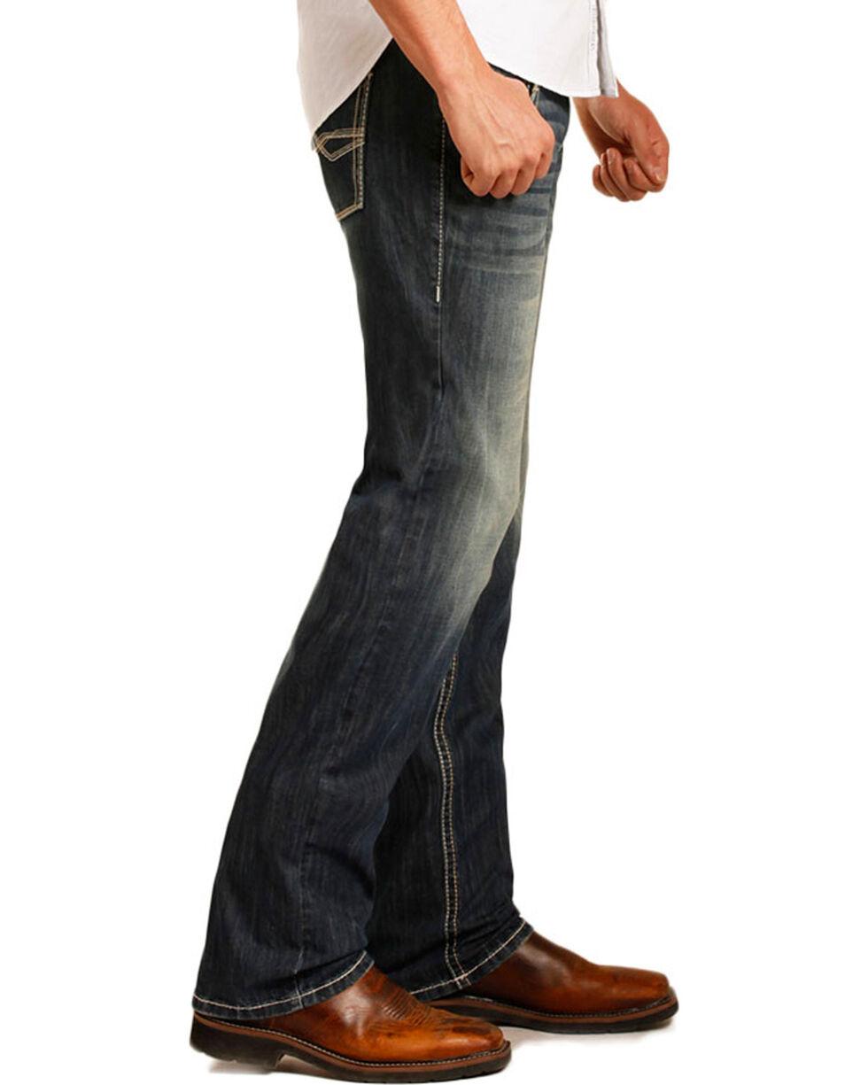 Rock & Roll Cowboy Men's ReFlex Pistol Dark Vintage Wash Jeans - Straight Leg, Blue, hi-res