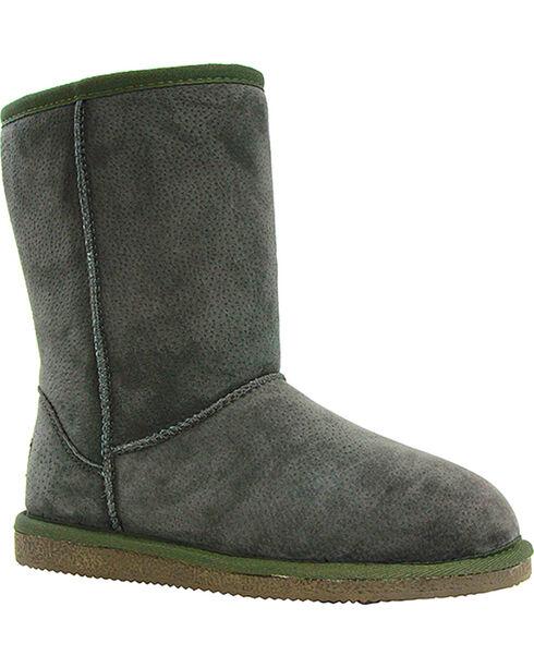 "Lamo Women's 9"" Classic Suede Boots, Dark Green, hi-res"