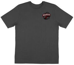 Wrangler Men's Grey American Western Rope Tee, Charcoal Grey, hi-res