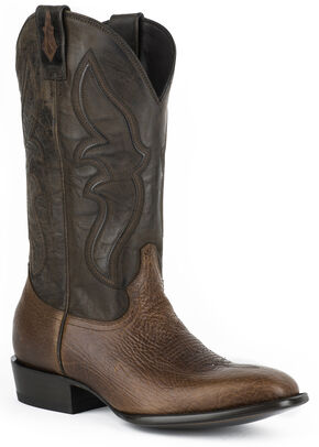 Stetson Mad Dog Cowboy Boots  - Square Toe, Brown, hi-res