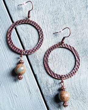 Jewelry Junkie Women's Aqua Terra Drop Earrings, Rust Copper, hi-res