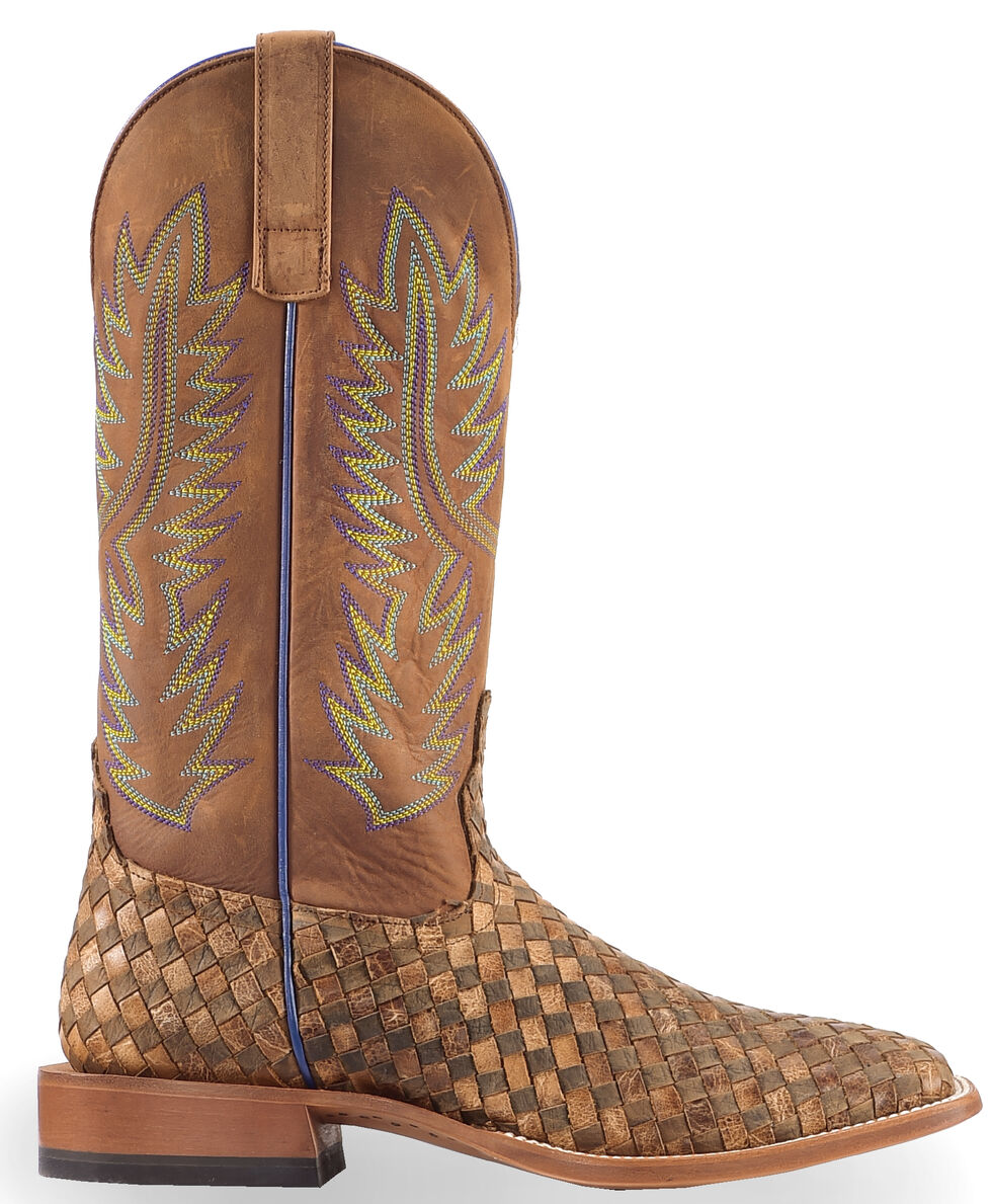 Horse Power Men's Unbeweavable Western Boots - Square Toe, Toast, hi-res