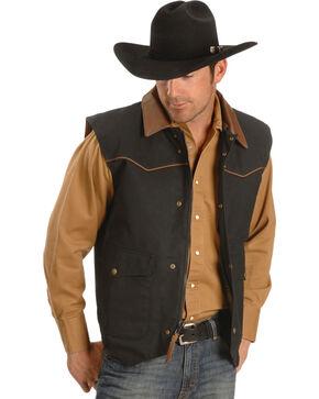 Schaefer Cattleman Canvas Vest, Black, hi-res