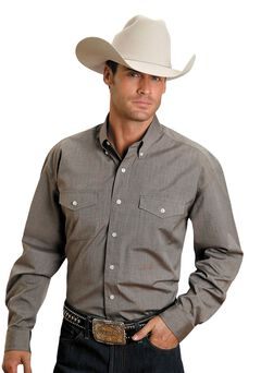 Stetson Solid Button Shirt, , hi-res