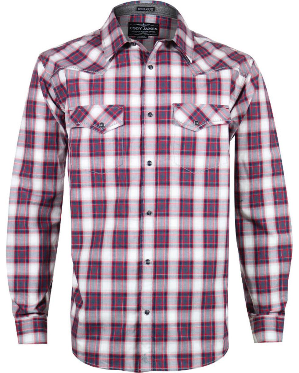 Cody James Men's Plaid Long Sleeve Shirt, Red, hi-res