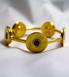SouthLife Supply Susan Shotshell Bangle Bracelet in Traditional Gold, Gold, hi-res