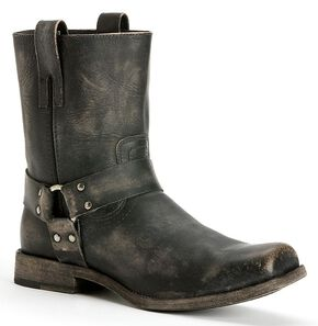 Frye Men's Smith Harness Boots - Square Toe, Black, hi-res
