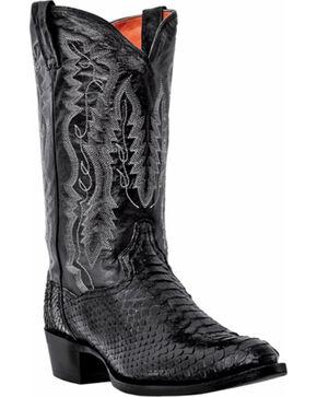 Dan Post Men's Omaha Python Cowboy Boots - Medium Toe, Black, hi-res