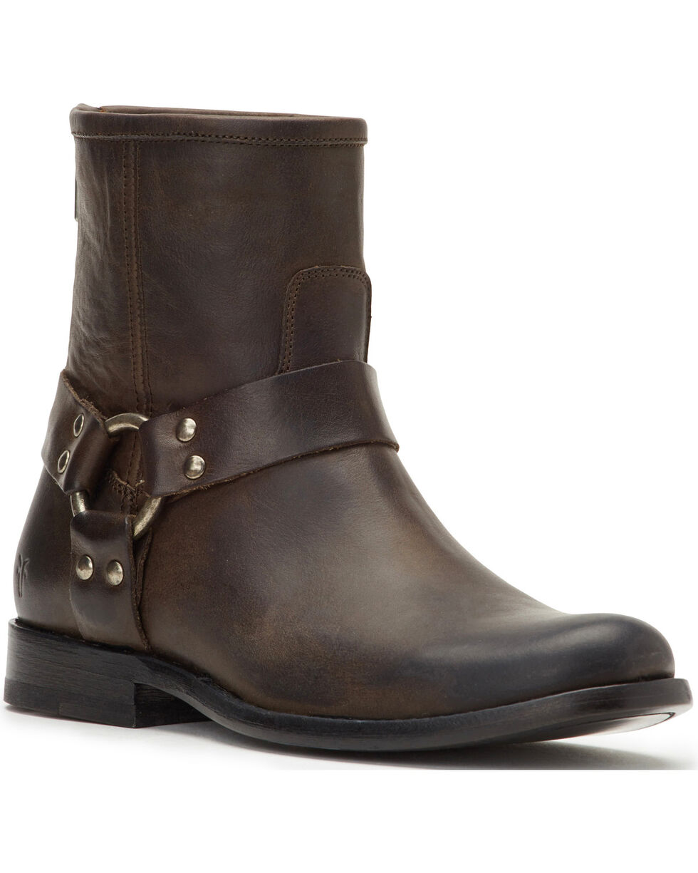 Frye Women's Smoke Phillip Harness Short Boots - Round Toe , Grey, hi-res